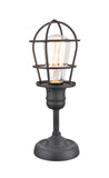 "# 40080, Wire Cage Metal Accent Lamp, Vintage Design in Sand Black Finish, 11 1/2"" High"