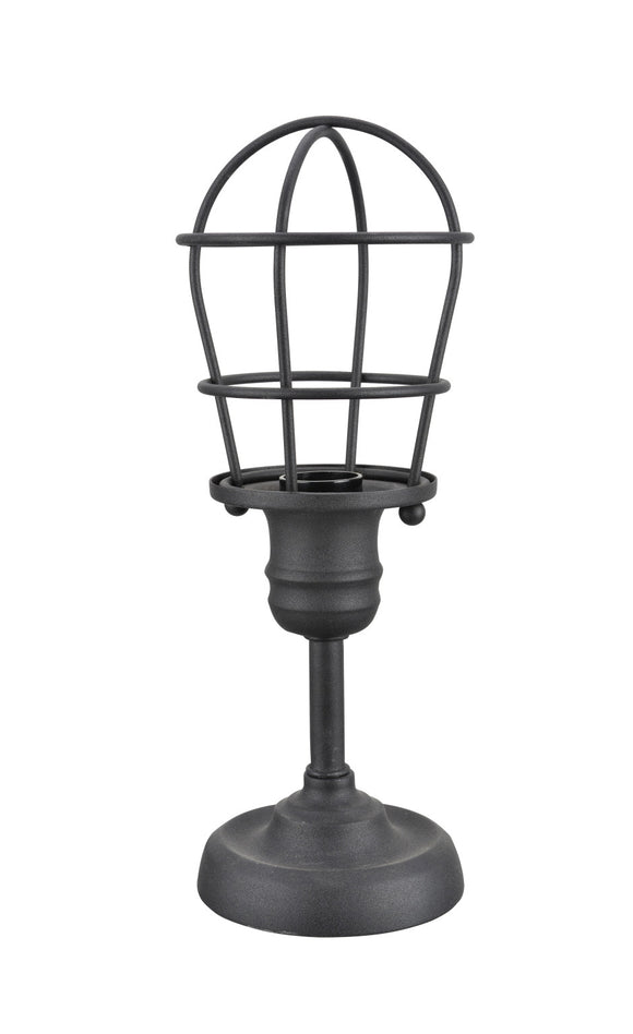 # 40080, Wire Cage Metal Accent Lamp, Vintage Design in Sand Black Finish, 11 1/2