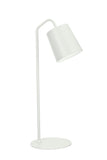 "# 40100-1, 23"" High Modern Metal Desk Lamp, Almond Finish with Metal Lamp Shade, 7 1/2"" wide"