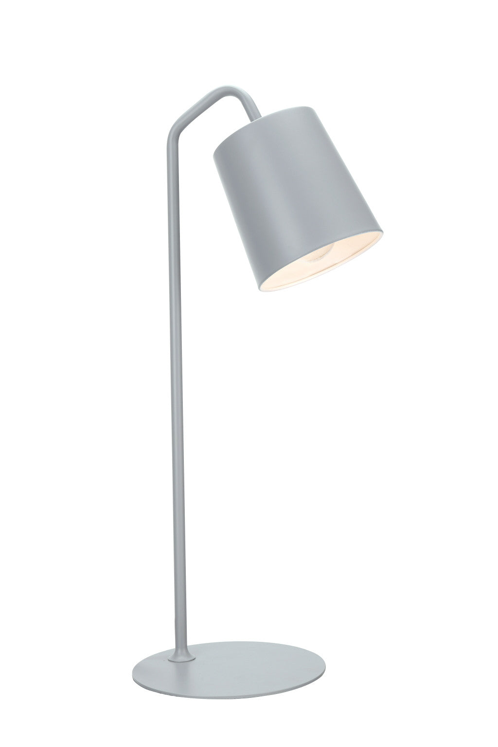 40100 3 23 High Modern Metal Desk Lamp Milky Grey Finish With Met Aspen Creative Corporation
