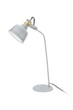 "# 40101, 24"" High Modern Metal Desk Lamp, Cement Grey Finish with Metal Lamp Shade, 14 3/8"" wide"