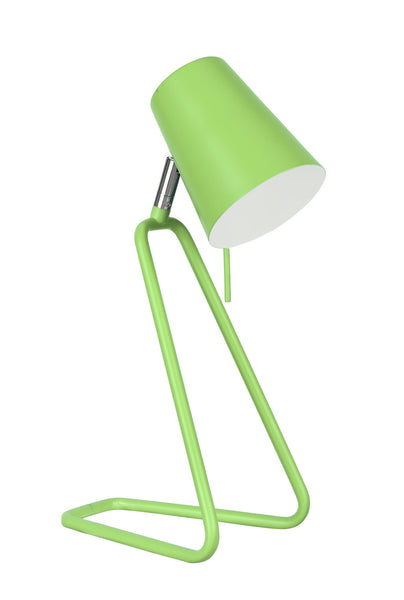 "# 40103-2, 13 1/2"" High Modern Metal Desk Lamp, Apple Green Finish with Metal Lamp Shade, 4 3/4"" wide"