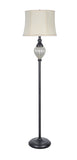 "# 45010 1 Light Metal Floor Lamp, Transitional Design in Oil Rubbed Bronze, 58 1/2"" High"