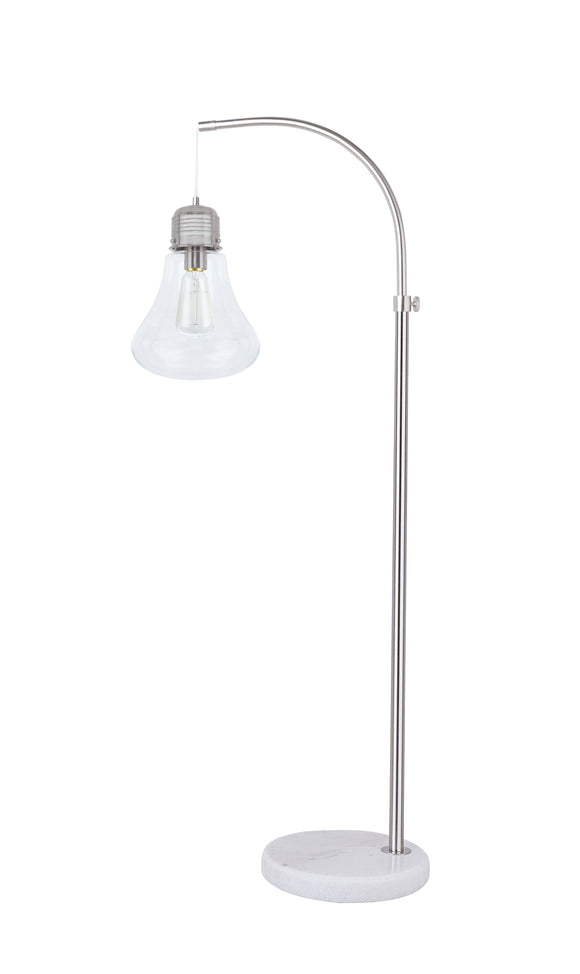 # 45017-11, One-Light Metal Floor Lamp, Transitional Design in Satin Nickel Finish, 55