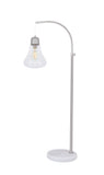 "# 45017-11, One-Light Metal Floor Lamp, Transitional Design in Satin Nickel Finish, 55"" High"