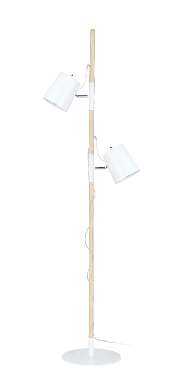 # 45018-11, Two-Light Adjustable Tree Floor Lamp, Modern Design in Matte White, 61-1/2