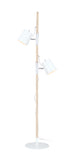 "# 45018-11, Two-Light Adjustable Tree Floor Lamp, Modern Design in Matte White, 61-1/2"" High"