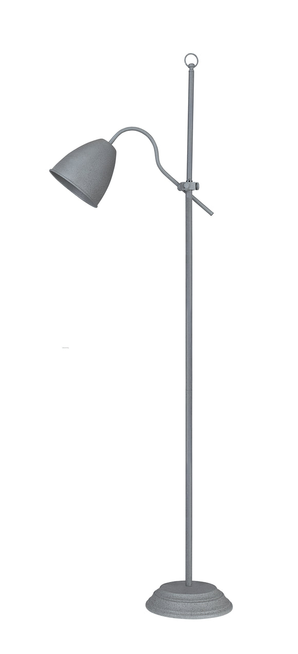 # 45020-11, One-Light Adjustable Floor Lamp, Transitional Design in Cement, 64