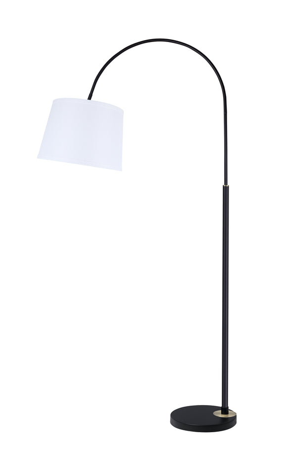 # 45702-11, One-Light Arc Floor Lamp, Transitional Design in Black, 69 1/2