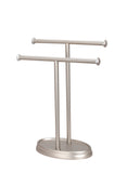 "# 50001-2  Two Pack, Hand Towel Holder, Transitional Design in Satin Nickel, 13 1/2"" H"