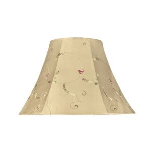 "# 58001 Transitional Bell Shape UNO Construction Lamp Shade in Gold, 13"" Wide (6"" x 13"" x 9"")"