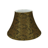 "# 58004 Transitional Bell Shape UNO Construction Lamp Shade in Pumpkin Gold, 13"" Wide (6"" x 13"" x 9"")"
