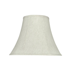 "# 58052 Transitional Bell Shape UNO Construction Lamp Shade in Linen White, 14"" Wide (7"" x 14"" x 11"")"