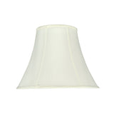 "# 58053 Transitional Bell Shape UNO Construction Lamp Shade in Off White, 14"" Wide (7"" x 14"" x 11"")"