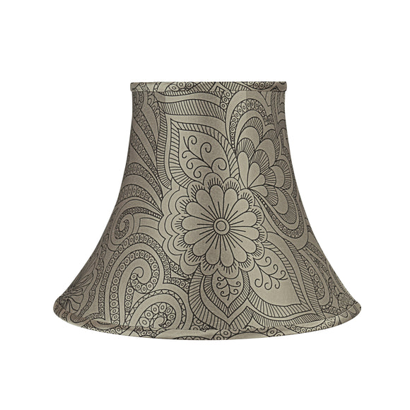 # 58054 Transitional Bell Shape UNO Construction Lamp Shade in Taupe, 14