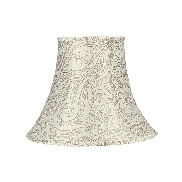 # 58055 Transitional Bell Shape UNO Construction Lamp Shade in White & Grey, 14