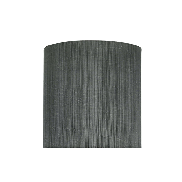 # 58301 Transitional Drum (Cylinder) Shape UNO Construction Lamp Shade in Grey & Black, 8