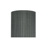 "# 58301 Transitional Drum (Cylinder) Shape UNO Construction Lamp Shade in Grey & Black, 8"" Wide (8"" x 8"" x 8"")"