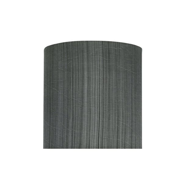 58301 Transitional Drum (Cylinder) Shape UNO Construction Lamp Shade In  Grey U0026 Black