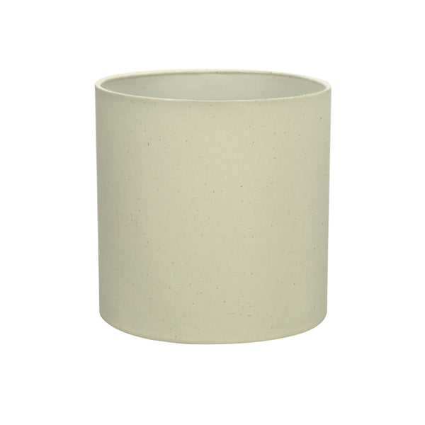"# 58303 Transitional Drum (Cylinder) Shape UNO Construction Lamp Shade in Off White, 8"" Wide (8"" x 8"" x 8"")"