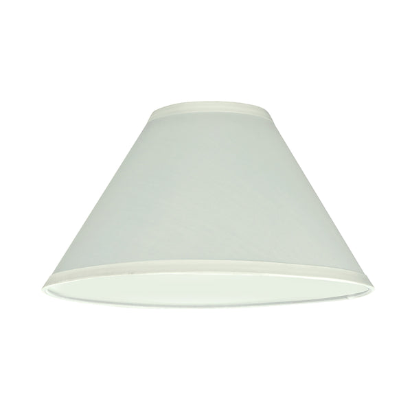 "# 58701 Transitional Hardback Empire Shape UNO Construction Lamp Shade in Off White, 11"" Wide (4"" x 11"" x 7"")"