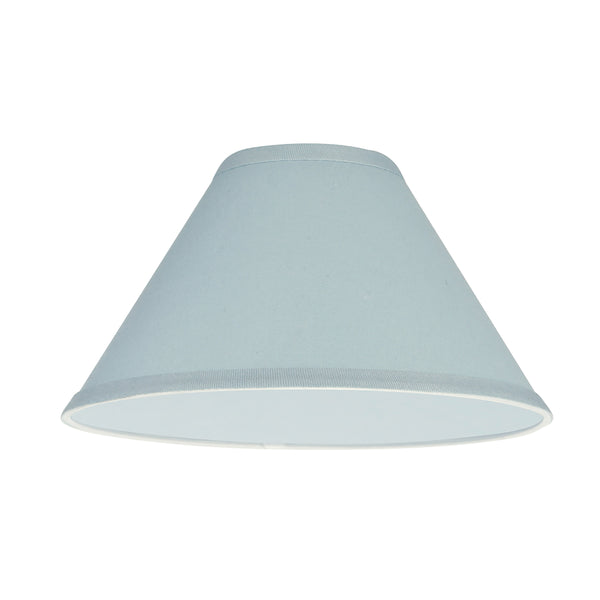 "# 58702 Transitional Hardback Empire Shape UNO Construction Lamp Shade in Light Blue, 11"" Wide (4"" x 11"" x 7"")"