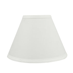 "# 58726 Transitional Hardback Empire Shape UNO Construction Lamp Shade in Off White, 9"" Wide (4"" x 9"" x 6 1/2"")"