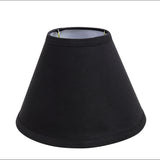 "# 58727 Transitional Hardback Empire Shape UNO Construction Lamp Shade in Black, 9"" Wide (4"" x 9"" x 6 1/2"")"