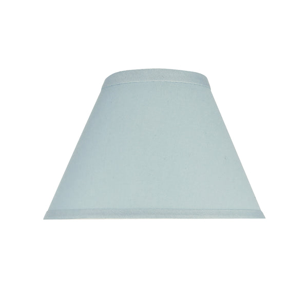 "# 58728 Transitional Hardback Empire Shape UNO Construction Lamp Shade in Light Blue, 9"" Wide (4"" x 9"" x 6 1/2"")"