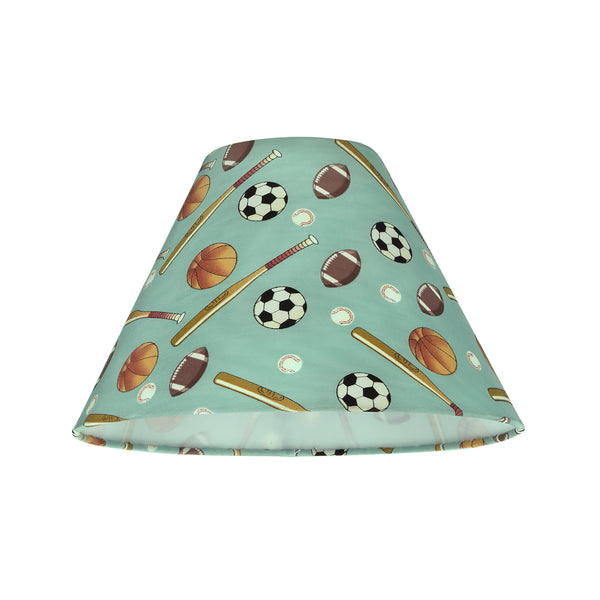 "# 58751 Transitional Hardback Empire Shape UNO Construction Lamp Shade in Blue, 10"" Wide (4"" x 10"" x 7"")"
