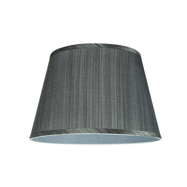 "# 58801 Transitional Hardback Empire Shape UNO Construction Lamp Shade in Grey & Black, 14"" Wide (10"" x 14"" x 9 1/2"")"
