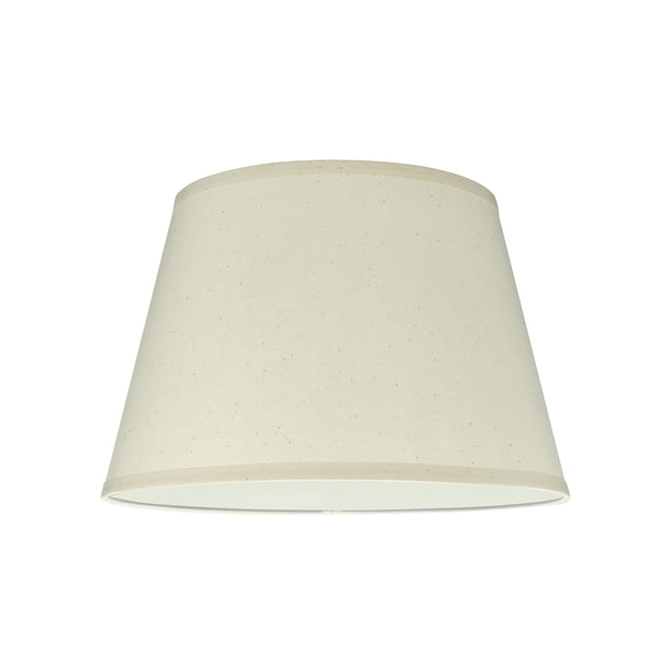 "# 58802 Transitional Hardback Empire Shape UNO Construction Lamp Shade in Off White, 14"" Wide (10"" x 14"" x 9 1/2"")"
