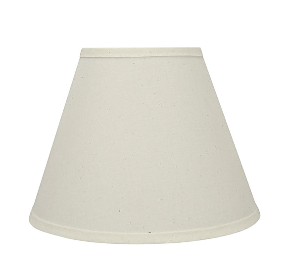 # 58876 Transitional Pleated Empire Shape UNO Construction Lamp Shade in Off White, 12