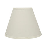 "# 58876 Transitional Pleated Empire Shape UNO Construction Lamp Shade in Off White, 12"" wide (6"" x 12"" x 9"")"