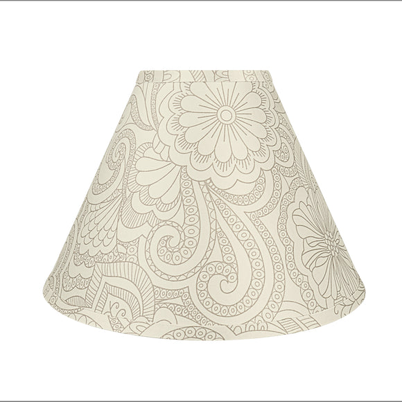 # 58941 Transitional Hardback Empire Shape UNO Construction Lamp Shade in White & Grey, 13