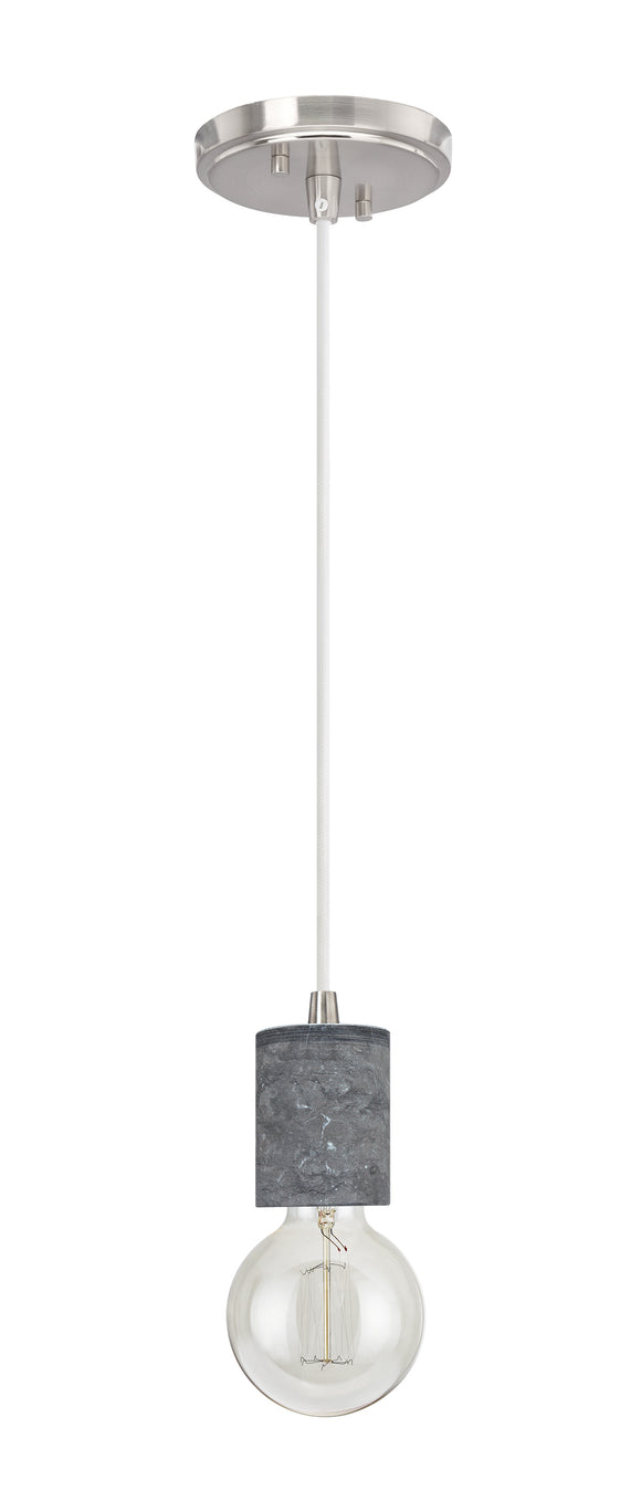 # 61101-21 Adjustable One-Light Hanging Mini Pendant Ceiling Light, Transitional Design in Black Marble Finish, 4 5/8