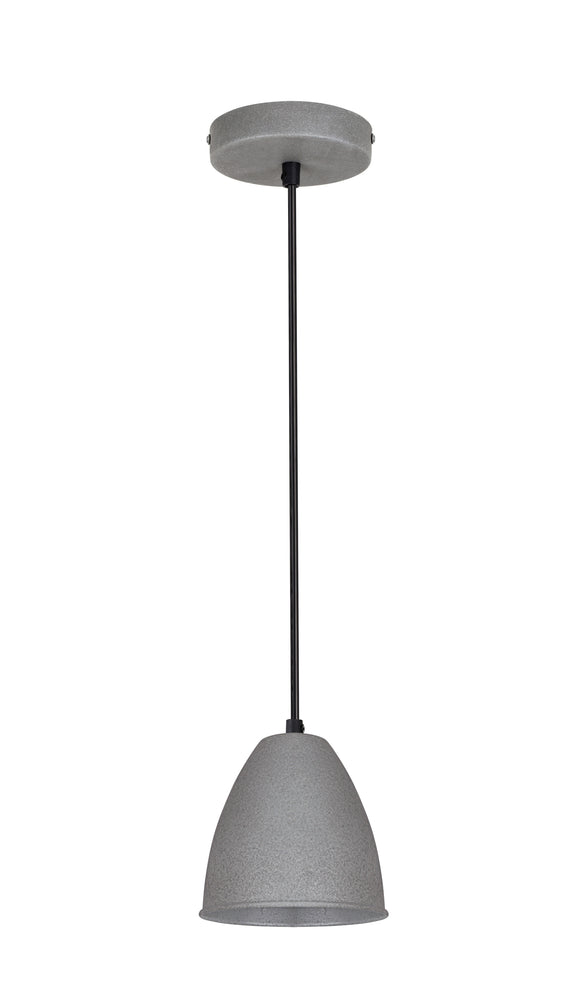 # 61126-11, One-Light Hanging Mini Pendant Ceiling Light, Transitional Design in Cement Finish, 7-1/4