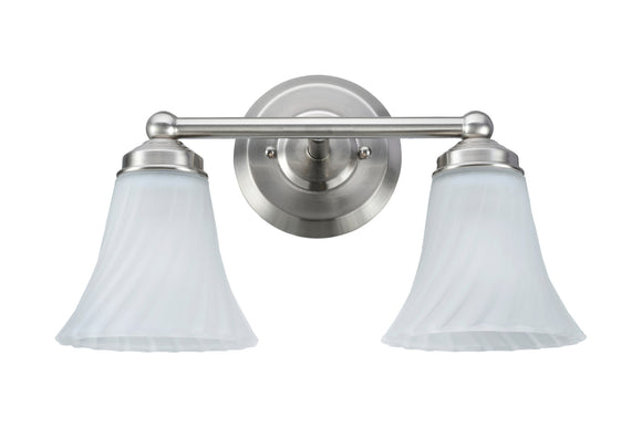 # 62005 2 Light Metal Bathroom Vanity Wall Light Fixture, 13 7/8