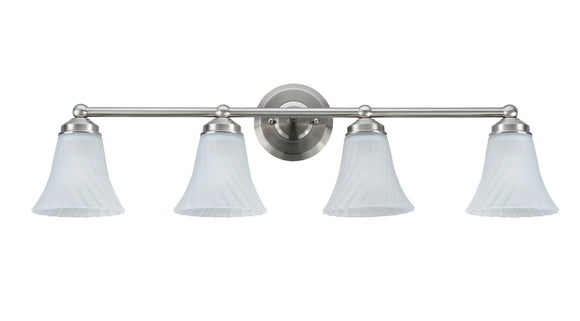 # 62007 Four-Light Metal Bathroom Vanity Wall Light Fixture, 16