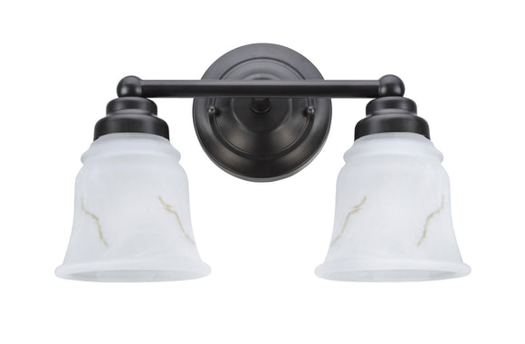 # 62009-2  2 Light Metal Bathroom Vanity Wall Light Fixture, 13 1/2