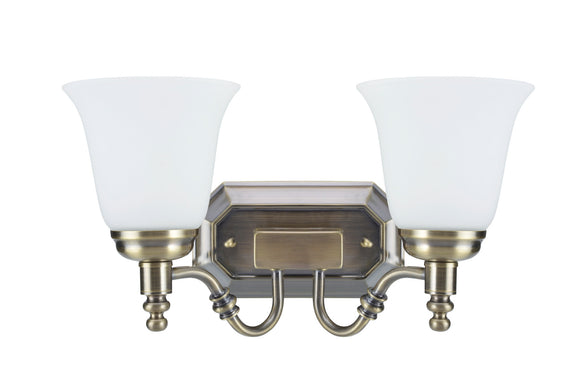 # 62021-3, Two-Light Metal Bathroom Vanity Wall Light Fixture, 6