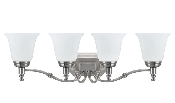 # 62023-2  4 Light Metal Bathroom Vanity Wall Light Fixture, 30