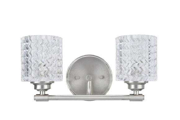 # 62057 Two-Light Metal Bathroom Vanity Wall Light Fixture, 14 1/2