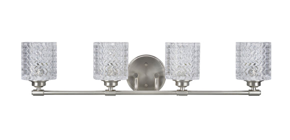 # 62059 Four-Light Metal Bathroom Vanity Wall Light Fixture, 31 1/2