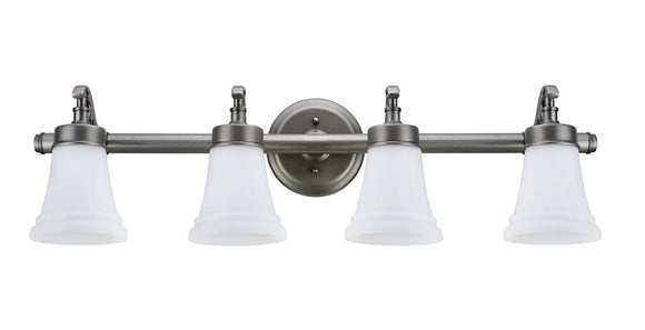# 62067 4 Light Metal Bathroom Vanity Wall Light Fixture, 30 1/2