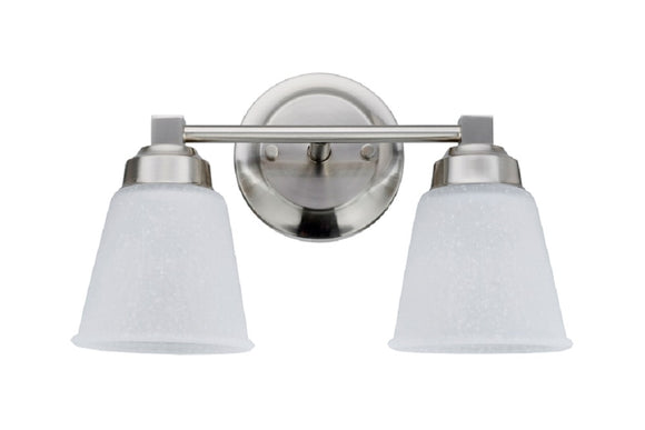 # 62069-1 2-Light Metal Bathroom Vanity Wall Light Fixture, 13 1/8