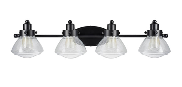 # 62080 Four-Light Metal Bathroom Vanity Wall Light Fixture, 33 3/4