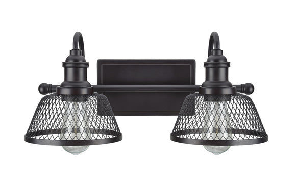 # 62094 Two-Light Metal Bathroom Vanity Wall Light Fixture, 17