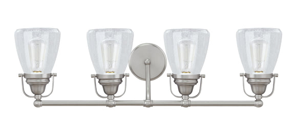 # 62100 4 Light Metal Bathroom Vanity Wall Light Fixture, 32 1/2