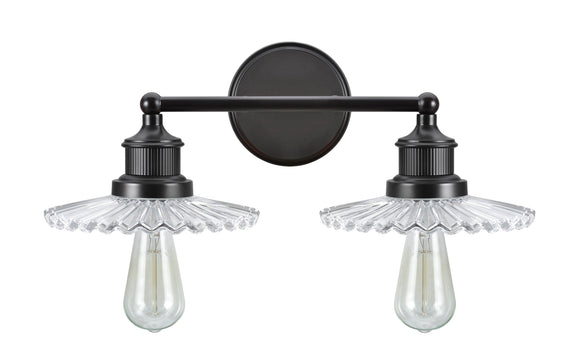 # 62106 2 Light Metal Bathroom Vanity Wall Light Fixture, 17 3/4